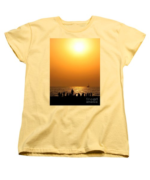St. Petersburg Sunset Women's T-Shirt (Standard Cut) by Peggy Hughes