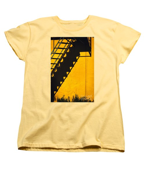 Women's T-Shirt (Standard Cut) featuring the photograph Staircase Shadow by Silvia Ganora