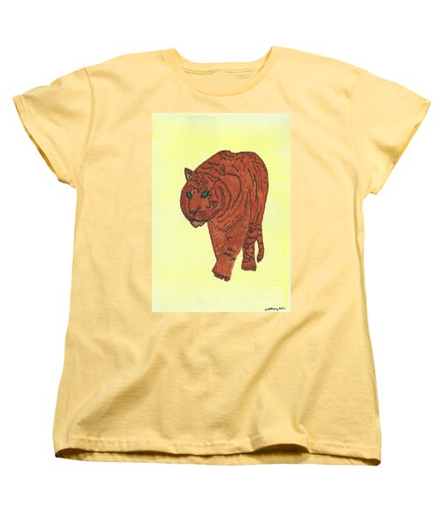 Stalking Tiger Women's T-Shirt (Standard Cut) by Tracey Williams