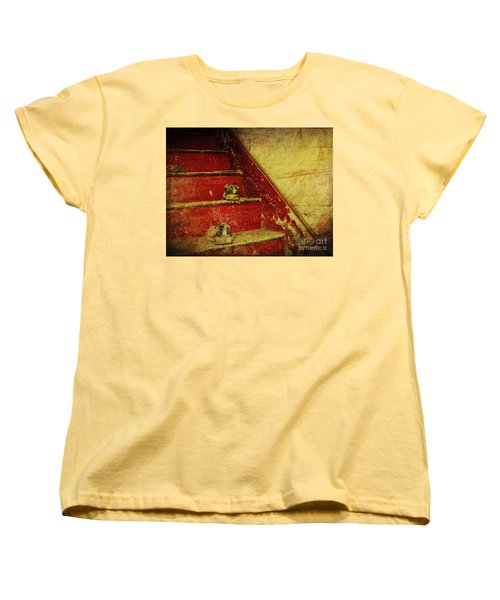 Women's T-Shirt (Standard Cut) featuring the photograph Step Back In Time by Debra Fedchin