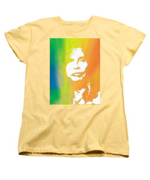Steven Tyler Canvas Women's T-Shirt (Standard Cut) by Dan Sproul
