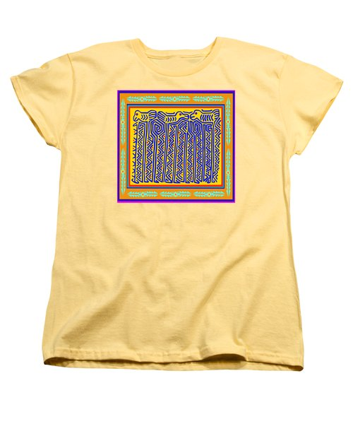 Women's T-Shirt (Standard Cut) featuring the digital art Storks by Vagabond Folk Art - Virginia Vivier