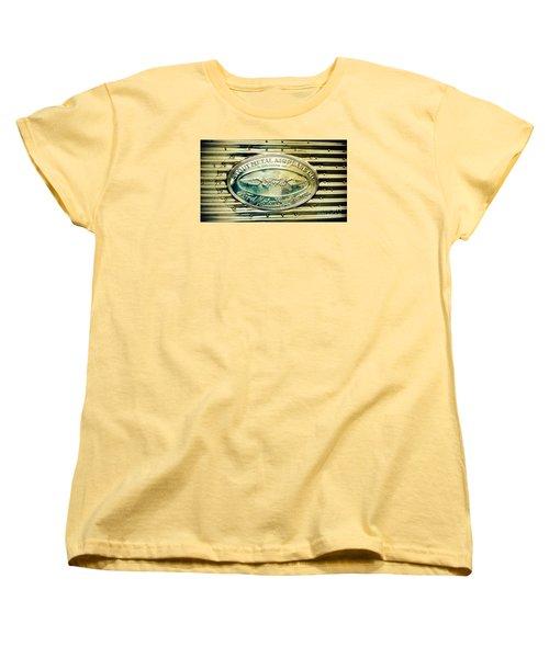 Stout Metal Airplane Co. Emblem Women's T-Shirt (Standard Cut) by Susan Garren