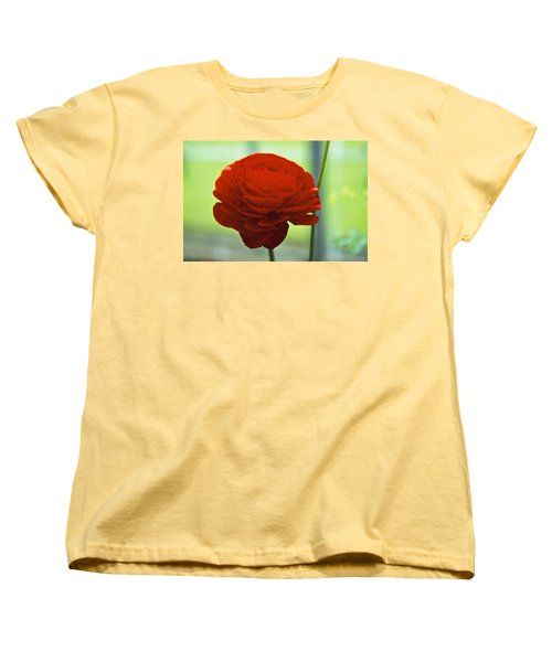 Women's T-Shirt (Standard Cut) featuring the photograph Striking Red by Lana Enderle