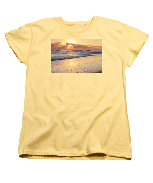 Sunbeams On The Beach Women's T-Shirt (Standard Cut) by Roupen  Baker