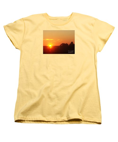Women's T-Shirt (Standard Cut) featuring the photograph Sundown by Jasna Dragun