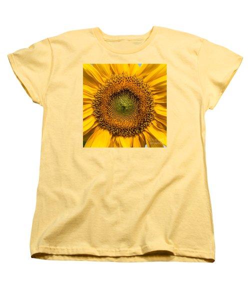 Sunflower Closeup Women's T-Shirt (Standard Cut) by Carsten Reisinger