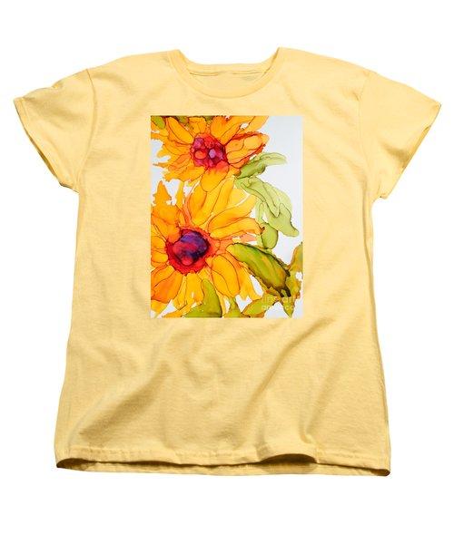 Sunflower Duo Women's T-Shirt (Standard Cut) by Vicki  Housel