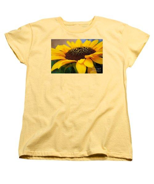 Women's T-Shirt (Standard Cut) featuring the photograph Sunflower Portrait Two by John S