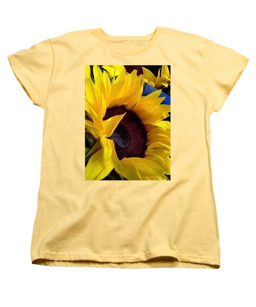Women's T-Shirt (Standard Cut) featuring the photograph Sunflower Sunny Yellow In New Orleans Louisiana by Michael Hoard