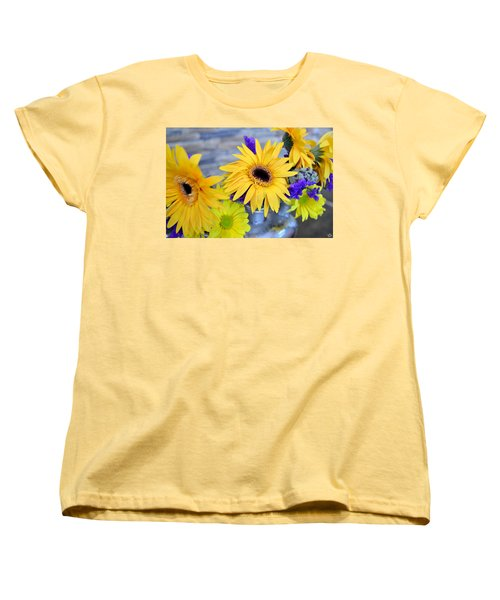 Women's T-Shirt (Standard Cut) featuring the photograph Sunny Days by Ally  White