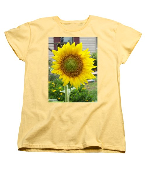 Women's T-Shirt (Standard Cut) featuring the photograph Bright Sunflower Happiness by Belinda Lee