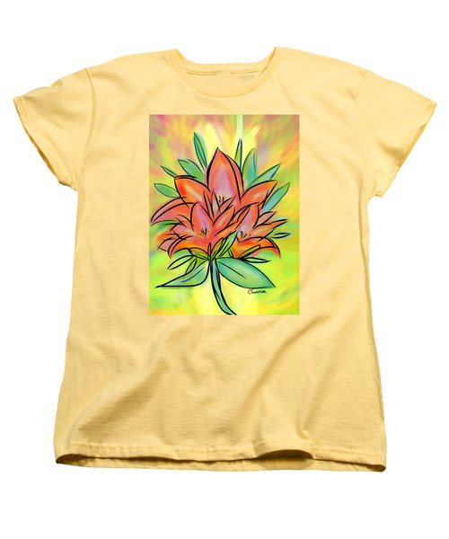 Sunrise Lily Women's T-Shirt (Standard Cut) by Christine Fournier
