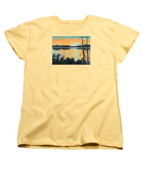 Sunset Women's T-Shirt (Standard Cut) by Remegio Onia