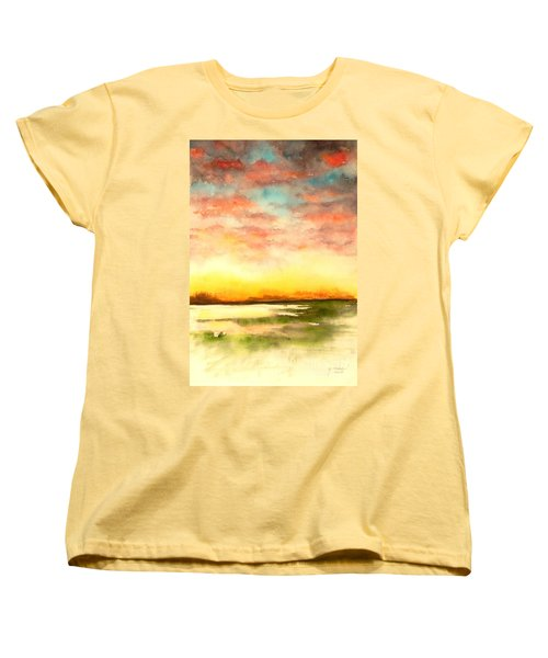 Sunset Women's T-Shirt (Standard Cut) by Yoshiko Mishina