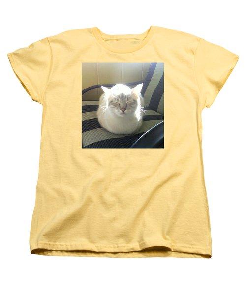 Sunshine Kitty Women's T-Shirt (Standard Cut) by Deborah Lacoste