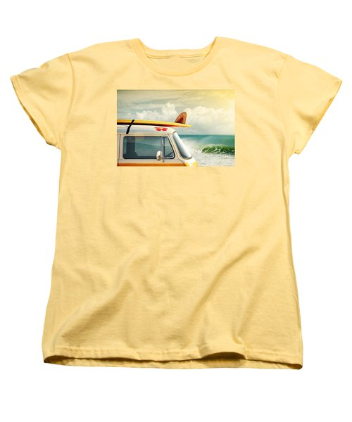 Surfing Way Of Life Women's T-Shirt (Standard Cut) by Carlos Caetano