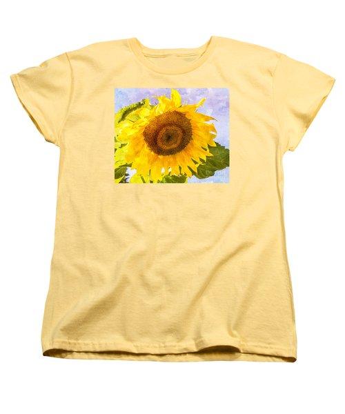 Sweet Sunflower Women's T-Shirt (Standard Cut) by Arlene Carmel