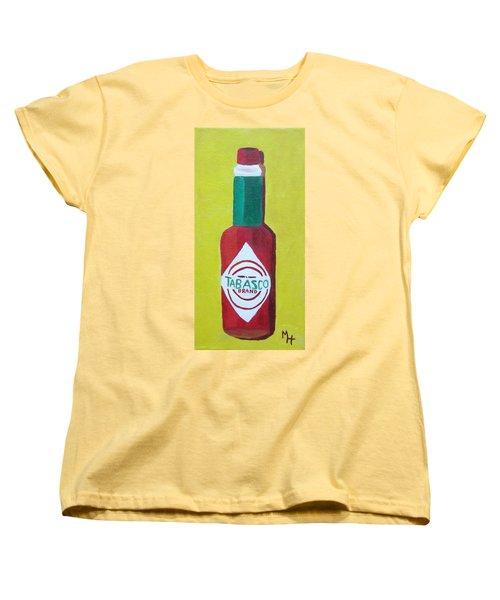 Tabasco Brand Pepper Sauce Women's T-Shirt (Standard Cut) by Margaret Harmon