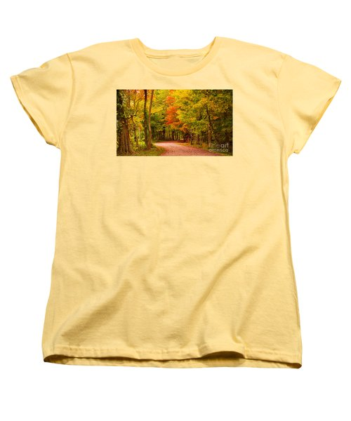 Women's T-Shirt (Standard Cut) featuring the photograph Take Me To The Forest by Rima Biswas