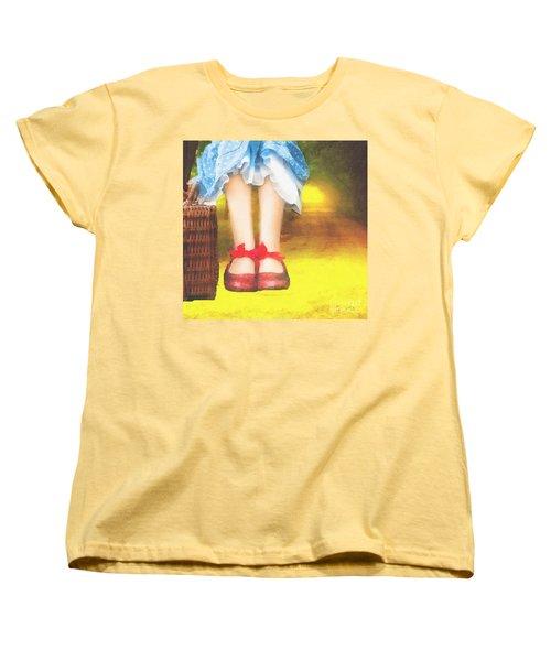 Taking Yellow Path Women's T-Shirt (Standard Cut) by Mo T