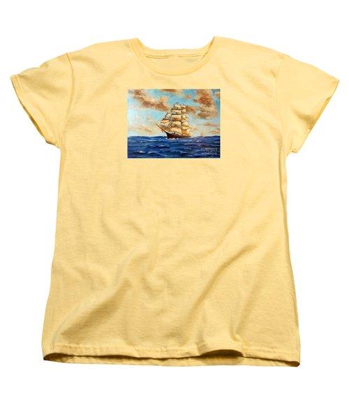 Tall Ship On The South Sea Women's T-Shirt (Standard Cut)