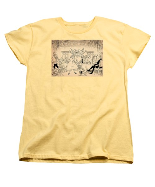 Women's T-Shirt (Standard Cut) featuring the drawing Tammy In Indpendence Hall by Reynold Jay