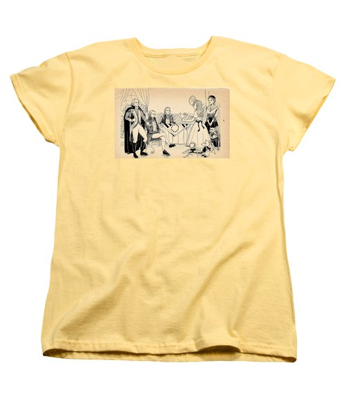 Women's T-Shirt (Standard Cut) featuring the drawing Tammy Meets Betsy Ross by Reynold Jay