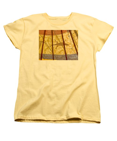 Tee  Pee Women's T-Shirt (Standard Cut) by Gary Warnimont