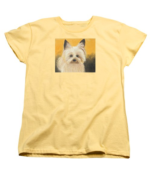 Women's T-Shirt (Standard Cut) featuring the painting Terrier by Jeanne Fischer