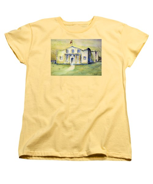 The Alamo  Women's T-Shirt (Standard Cut) by Bernadette Krupa