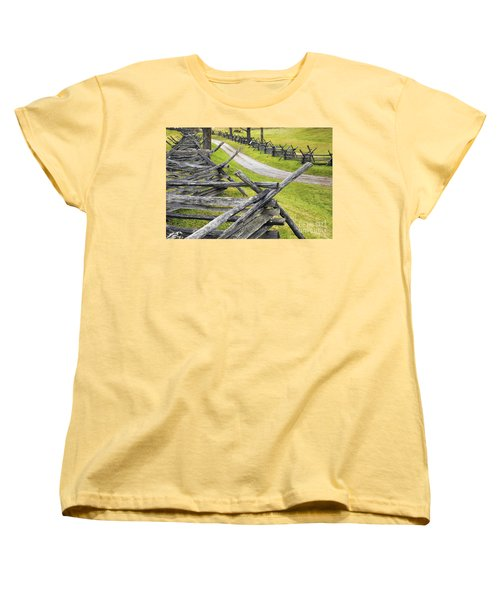 The Bloody Lane At Antietam Women's T-Shirt (Standard Cut) by Paul W Faust -  Impressions of Light