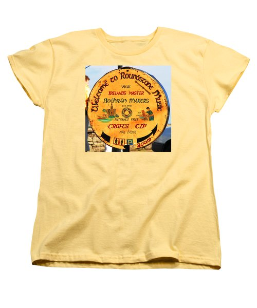 The Bodhran Makers Women's T-Shirt (Standard Cut) by Charlie and Norma Brock