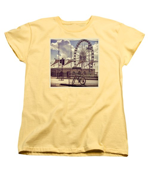 Women's T-Shirt (Standard Cut) featuring the photograph The Brighton Wheel by Chris Lord