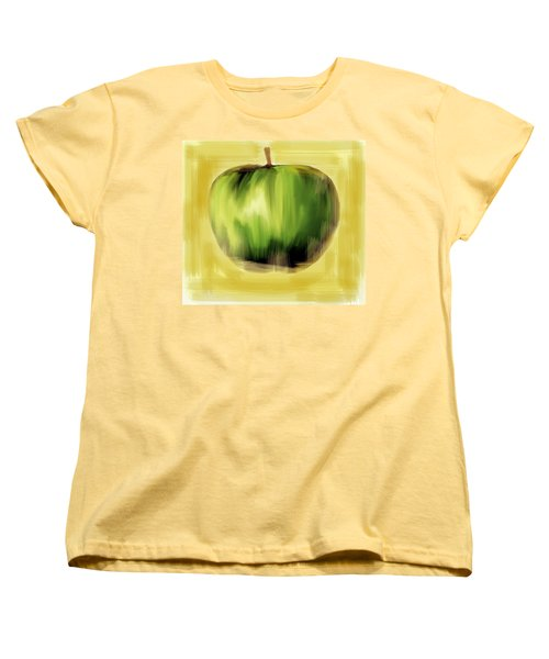 Women's T-Shirt (Standard Cut) featuring the painting The Creative Apple by Iconic Images Art Gallery David Pucciarelli