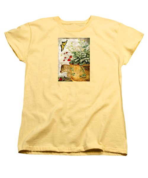 Women's T-Shirt (Standard Cut) featuring the painting The Discovery by Angela Davies