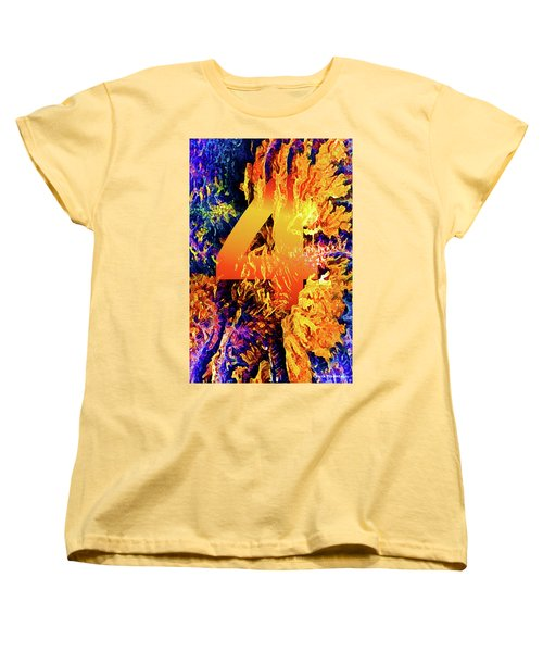 The Four Of Creation Women's T-Shirt (Standard Cut) by Chuck Mountain