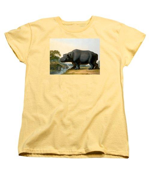 The Hippopotamus, 1804 Women's T-Shirt (Standard Cut) by Samuel Daniell