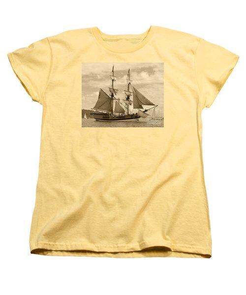 The Lady Washington Ship Women's T-Shirt (Standard Cut) by Kym Backland