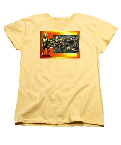 Women's T-Shirt (Standard Cut) featuring the relief The Legends Of Troy. . .  by Hartmut Jager