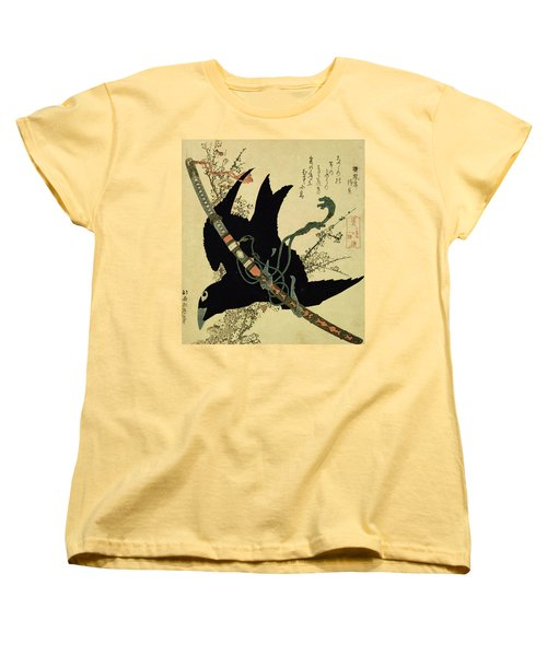 The Little Raven With The Minamoto Clan Sword Women's T-Shirt (Standard Cut)