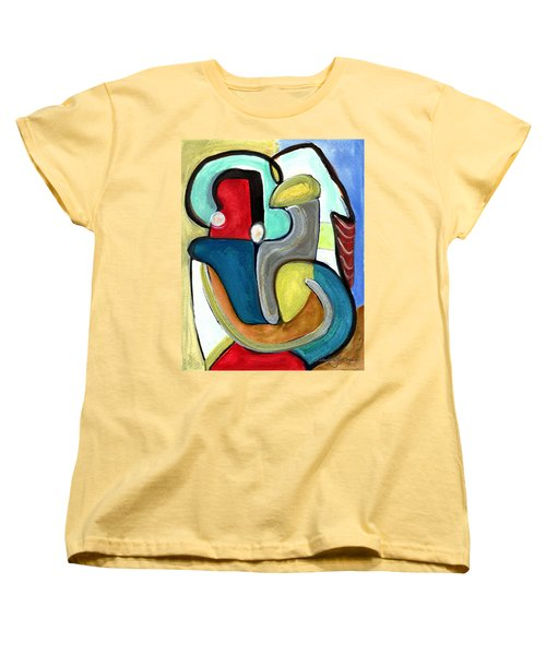 Women's T-Shirt (Standard Cut) featuring the painting The Lovers by Stephen Lucas