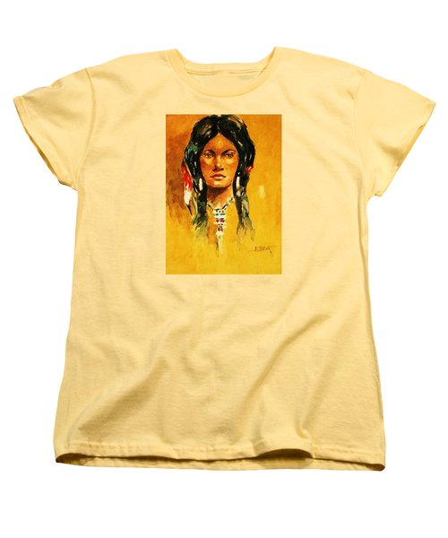 Women's T-Shirt (Standard Cut) featuring the painting The Maiden Ll by Al Brown