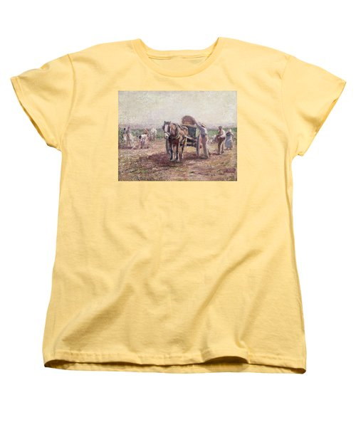 The Potato Pickers Women's T-Shirt (Standard Cut) by Harry Fidler