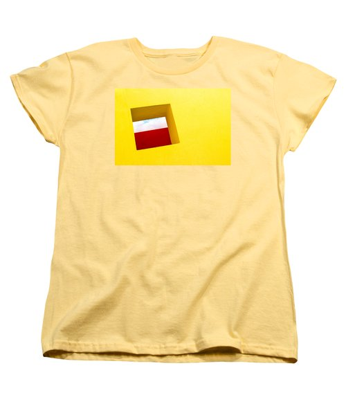 the Red Rectangle Women's T-Shirt (Standard Cut) by Prakash Ghai