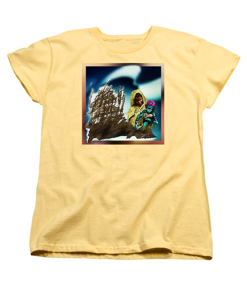 Women's T-Shirt (Standard Cut) featuring the photograph The Rescued  Alien  Child by Hartmut Jager