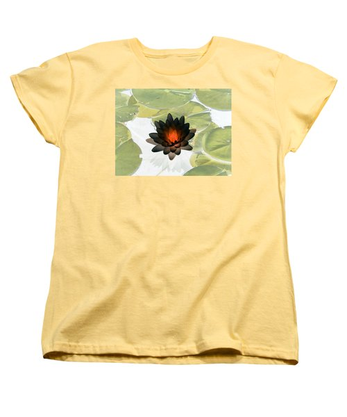 Women's T-Shirt (Standard Cut) featuring the photograph The Water Lilies Collection - Photopower 1034 by Pamela Critchlow