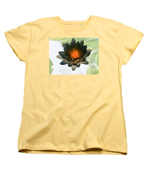 Women's T-Shirt (Standard Cut) featuring the photograph The Water Lilies Collection - Photopower 1035 by Pamela Critchlow