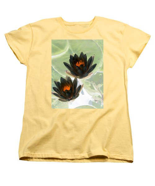 Women's T-Shirt (Standard Cut) featuring the photograph The Water Lilies Collection - Photopower 1046 by Pamela Critchlow