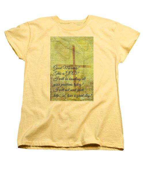 Women's T-Shirt (Standard Cut) featuring the digital art This Is God by Erika Weber